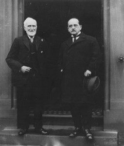 JM Barrie with his Maths teacher Mr Neilson , shared With permission from the Moat Brae Trust