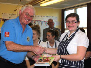 Ailsa receiving her prize