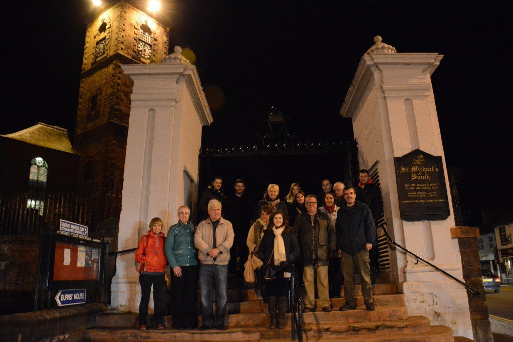 We all survived to tell the tail, at the gates of St Michael's Church Dumfries