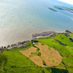 Castle point viewed from the sky by my Dad in his Paramotor