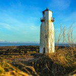 The well photographed Southerness Lighthouse on a superb day