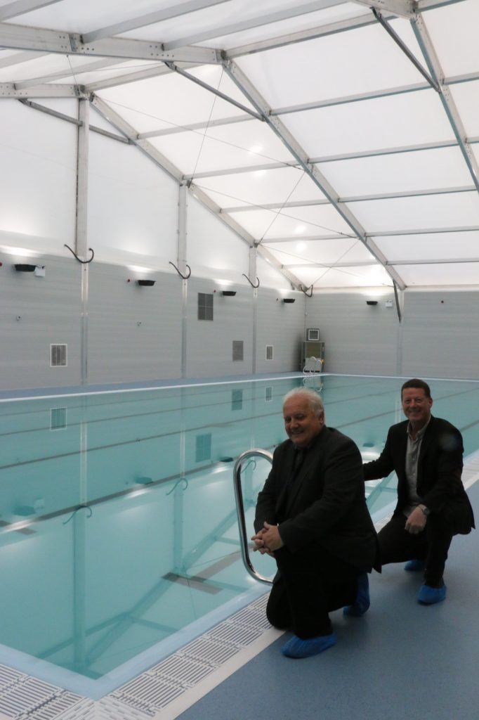 Dumfries temporary pool on track to open 6th of october - Swimming pools in dumfries and galloway ...