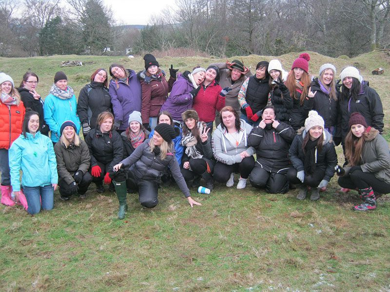 DUMFRIES AND GALLOWAY COLLEGE HNC EARLY EDUCATION AND CHILDCARE STUDENTS ENJOY SOME OUTDOOR ...