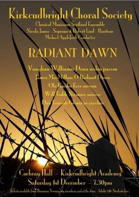 Kirkcudbright Choral Society Radiant Dawn