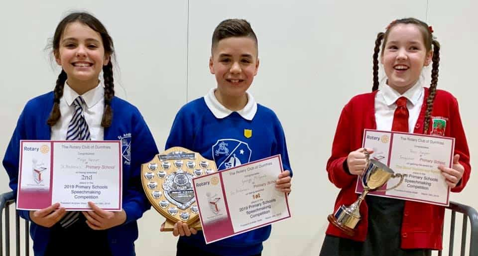 George McGeoch is Top Talker at Dumfries Rotary Speechmaking