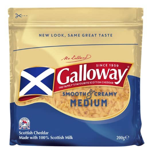 Galloway Medium Coloured Greated Chedder 200g packs recall