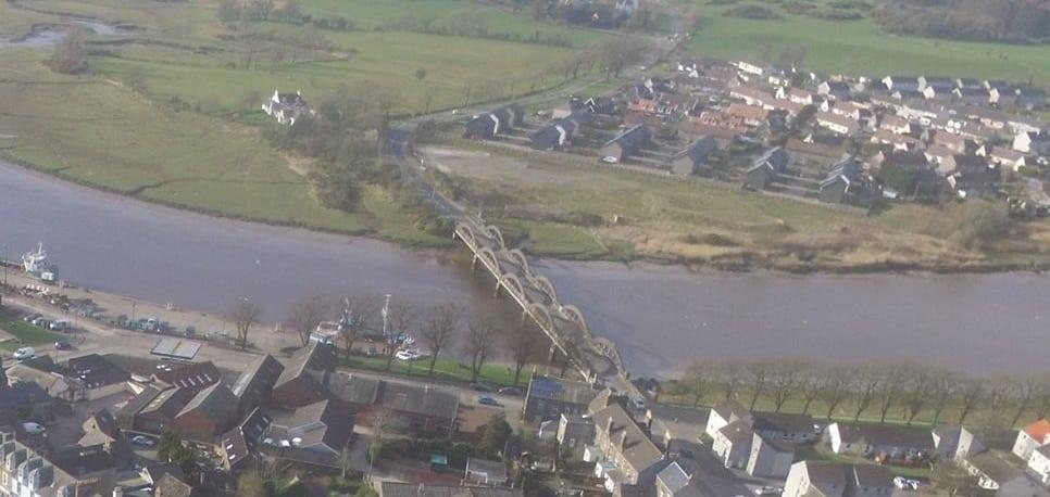 Kirkcudbright Bridge works october 2019