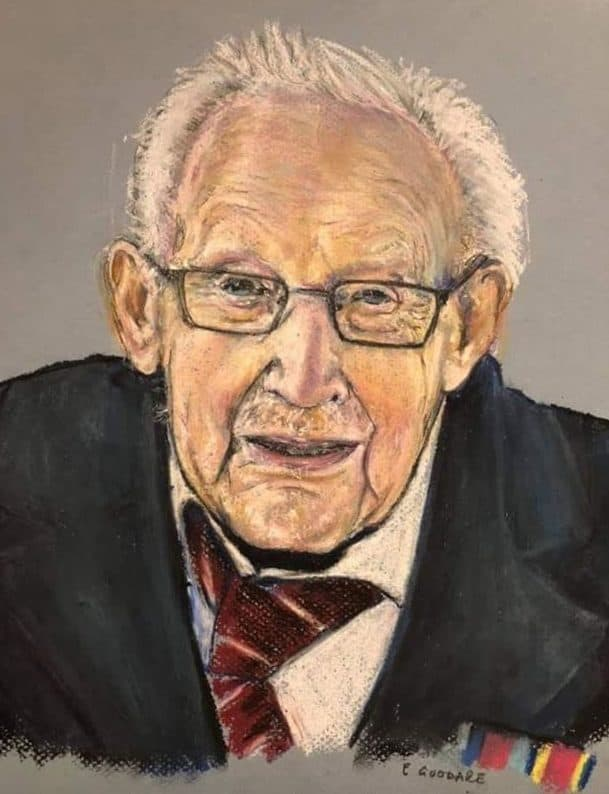 Kirkcudbright Artist's Picture of Captain Sir Tom Moore To Go On Public Display