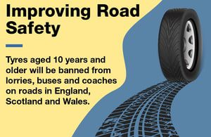 Government Bans Tyres 10 Years and Older From Public Roads