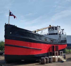 SCOTTISH MARITIME MUSEUM TURNS HISTORIC BOAT 'INSIDE OUT' TO CELEBRATE RE-OPENING