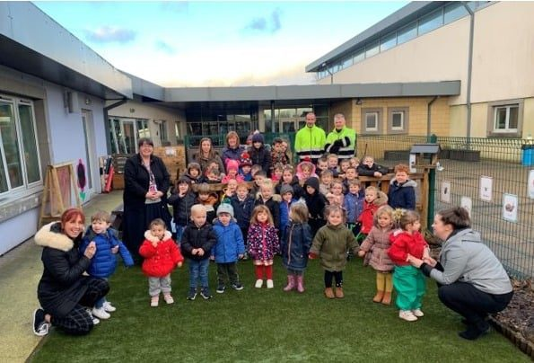 Lincluden Primary School Nursery Thanks local Businesses for Kind Support
