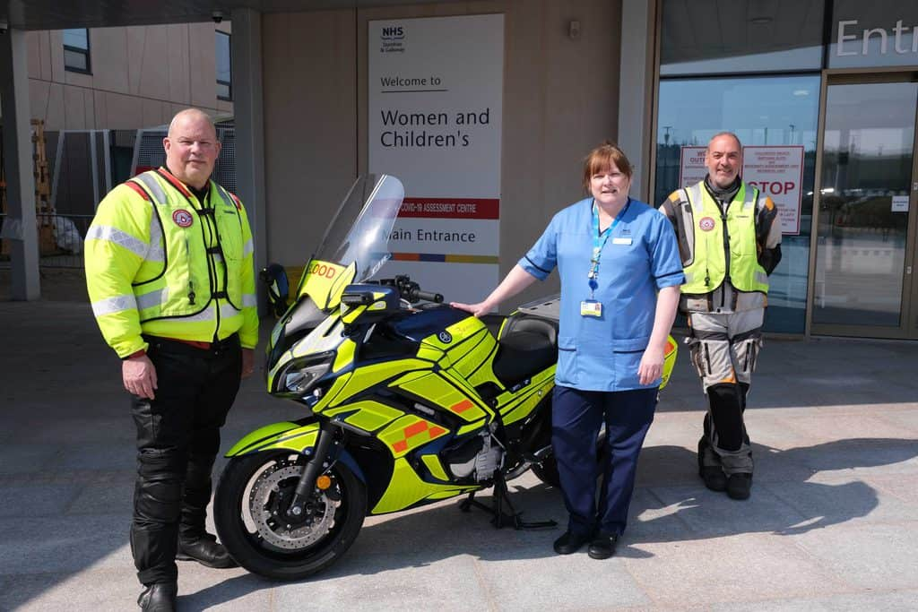 BLOOD BIKE NAMED AFTER NURSE OF THE YEAR JENNY