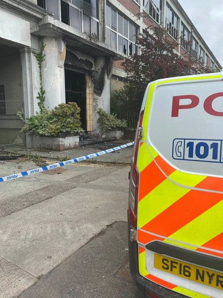 POLICE PROBE DERELICT GATES FACTORY FIRE - DUMFRIES
