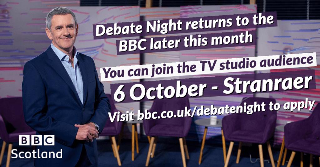 BBC Scotland's Debate Night Comes to Stranraer in October