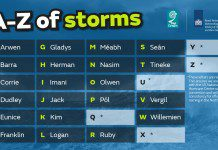 UK friends, families and pets recognised in storm names