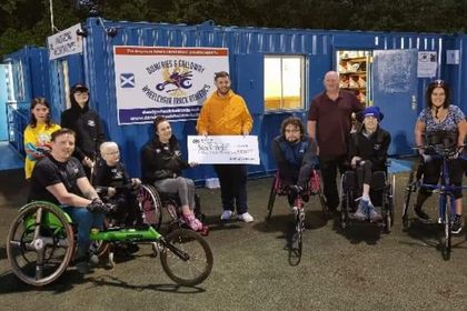 CASTLE DOUGLAS GOLF CLUB RAISE £3000 FOR LOCAL WHEELCHAIR ATHLETES