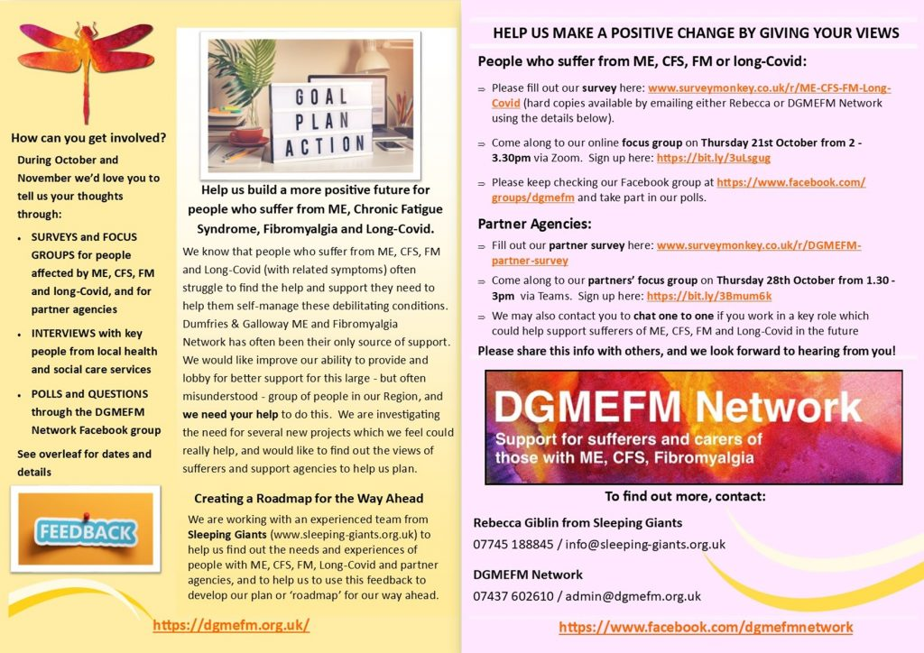 Give your views to help local people with ME, Chronic Fatigue Syndrome, Fibromyalgia and Long-Covid