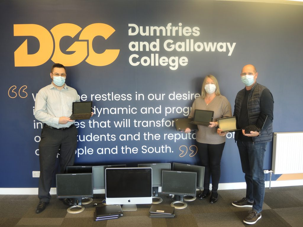 College Donates Computer Equipment to Castle Douglas IT Centre